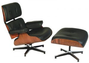 Charles Eames Lounge Chair and Ottoman; Public Domain via Wikimedia Commons: By The original uploader was Sonett72 at English Wikipedia (Transferred from en.wikipedia to Commons.) [Public domain or Public domain], via Wikimedia Commons